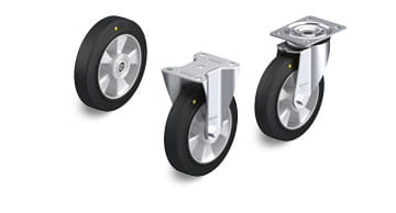 ALEV-EL, ALEV-SG-AS electrically conductive and antistatic wheels and castors