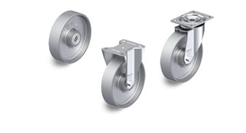 G electrically conductive and antistatic wheels and castors