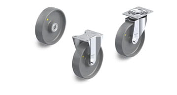 PO-ELS electrically conductive and antistatic wheels and castors