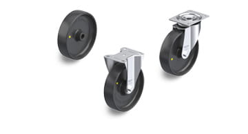 PP-EL electrically conductive and antistatic wheels and castors