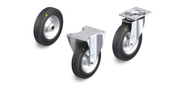 V-EL Electrically conductive and antistatic wheels and castors
