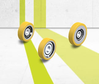 FSTH guide rollers with Blickle Extrathane® polyurethane tread
